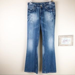Miss Me Long and Tall Distressed Denim Jeans 27